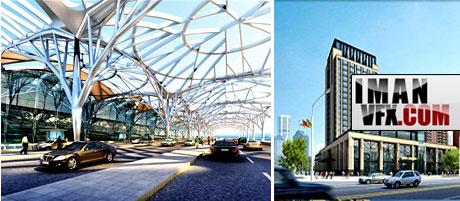 مدل آماده فرودگاه , مدل آماده هتل ,مدل آماده مرکز خرید برای 3ds max