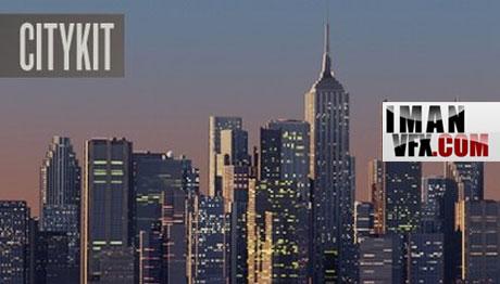 کیت  GreyscaleGorilla CityKit در Cinema4d  برای ساخت شهر و آسمانخراش