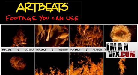 کلیپ آماده آتش و شعله از Artbeats ReelFire HD 1080p