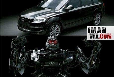 آموزش تبدیل ماشین به ربات , Making of Q7 Autobot