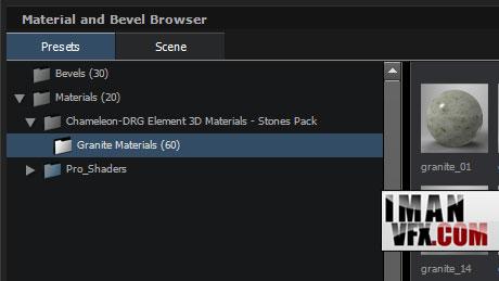 متریال های آماده برای پلاگین Element 3d