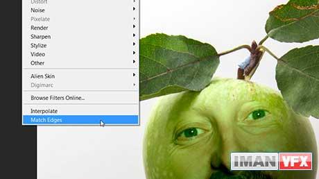 قابلیت های جدید فتوشاپ Cs6 : افکت Match Edges Filter