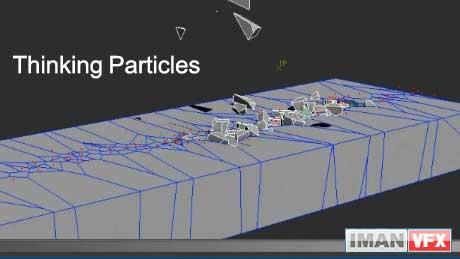 آموزش Thinking Particles , ترک خوردن و ریختن زمین