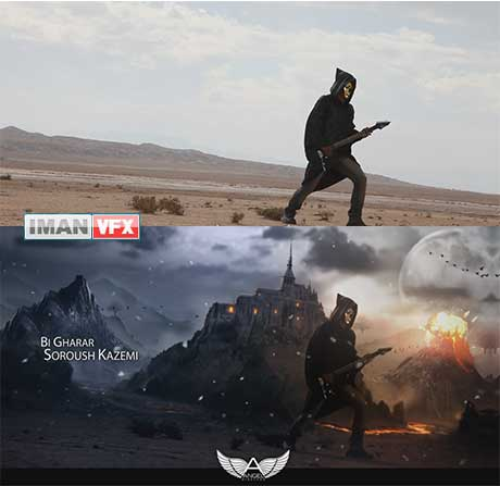 Before/After در موزیک ویدئو , VFX And Matte Painting By Angel