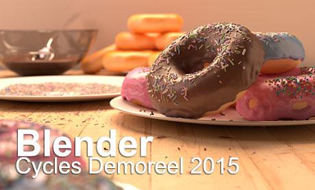 ویدئو Demoreel 2015 موتور رندرینگ Cycles در Blender