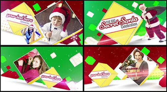 دانلود پروژه آماده افترافکت Christmas Slideshow