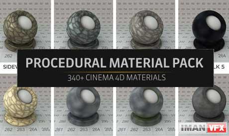 دانلود متریال های پراسجورال The Pixellab برای Cinema 4d