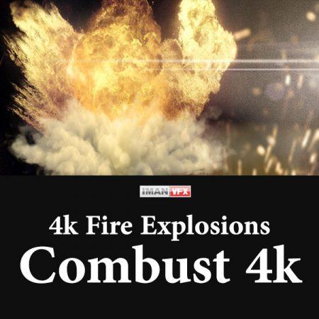 فوتیج آتش و انفجار Combust 4k