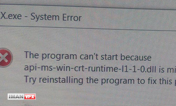 رفع مشکل api-ms-win-crt-runtime-l1-1-0.dll