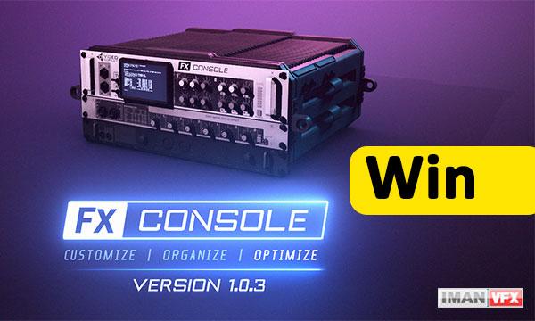 دانلود پلاگین افترافکت FX Console 1.0.3 ویندوز