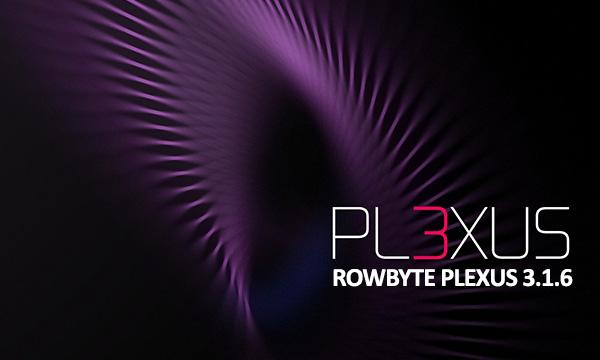 پلاگین پلکساز افترافکت ROWBYTE PLEXUS 3.1.6