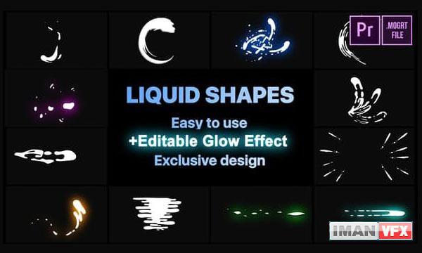 دانلود پروژه آماده پریمیر پرو LIQUID SHAPES