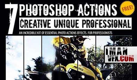 اکشن های حرفه ای فتوشاپ , Photoshop Actions
