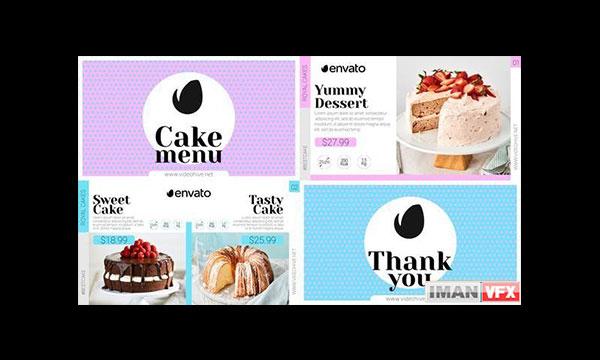 پروژه آماده افترافکت کیک و شیرینی Elegant Pack