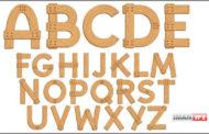 حروف الفبای گرافیکی Alphabet styled expensive wood