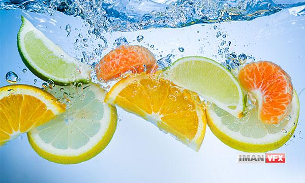 تصاویر میوه جات در آب