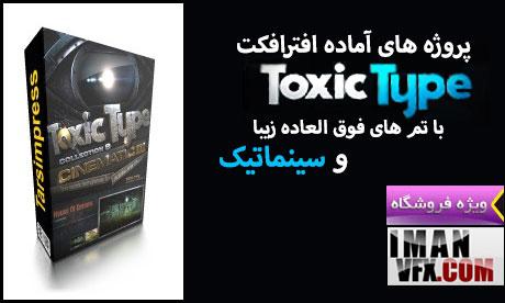 سری کامل پروژه افترافکت تاکزیک تایپ,Toxic Type Collection