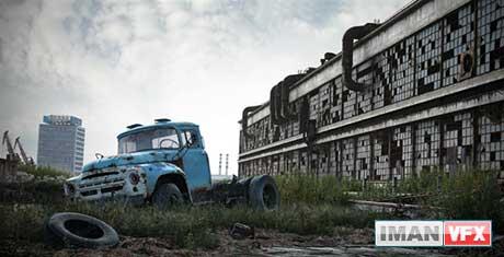آثار هنرمندان 3D : کامیون روسی از Anton Turkin