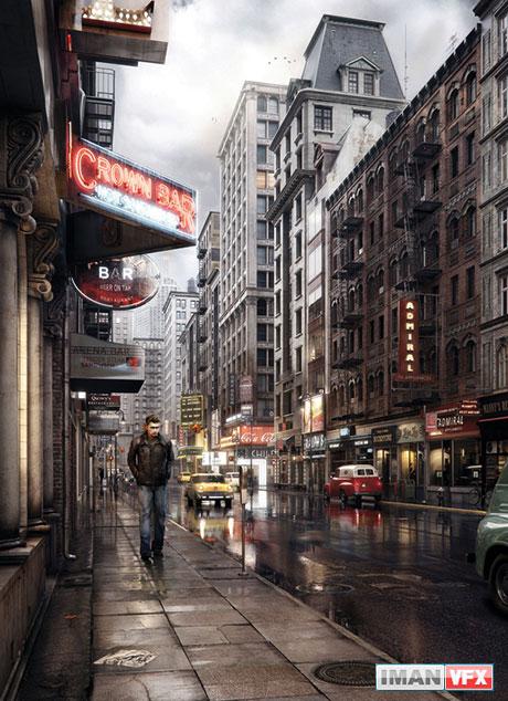 هنر 3D : نوستالژی نیویورک 1950