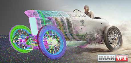 تصویر سازی 3D شکسته شدن رکورد سرعت در سال 1910