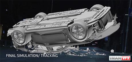 جلوه های ویژه صحنه یک تصادف , Car Crash VFX