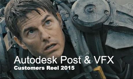 Autodesk Post & VFX Customers Reel 2015