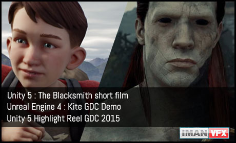 Unity 5 : The Blacksmith,Unity 5 And Unreal Engine 4 Reel GDC 2015