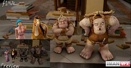 پشت صحنه انیمیشن مبارک,Making Of انیمیشن مبارک