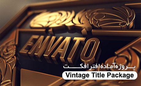 دانلود پروژه آماده افترافکت,Videohive Vintage Title Package
