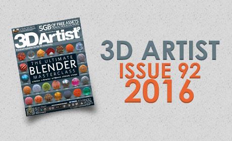 دانلود مجله 3D ARTIST – ISSUE 92, 2016