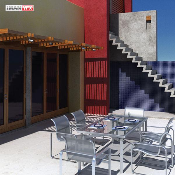 مدل 3D طراحی داخلی و بیرونی