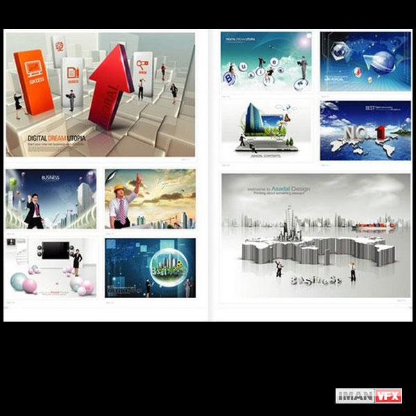 تصاویر لایه باز تبلیغاتی Korean Psd