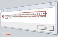 رفع مشکل api-ms-win-crt-runtime-l1-1-0.dll