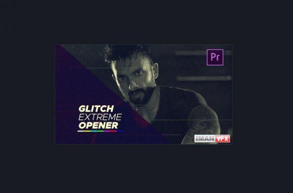 پروژه آماده پریمیر پرو Glitch Extreme Opener