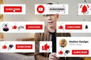 پریمیر پرو و یوتیوب ! پروژه آماده سابسکرایب ، نوتیفیکیشن و تدوین با آموزش
