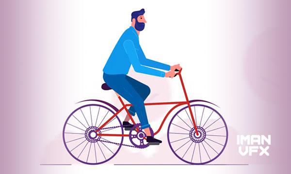 آموزش افترافکت متحرکسازی یا انیمیشن دوچرخه و کاراکتر