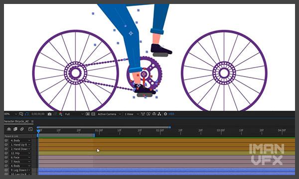 آموزش افترافکت انیمیشن کاراکتر