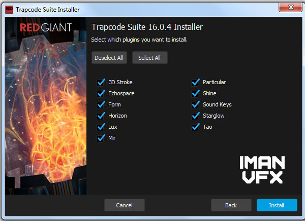 پلاگین ترپکد سوئیت - Trapcode Suite 16.0.4