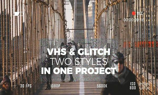 دانلود پروژه آماده پریمیر پرو با افکت VHS و Glitch