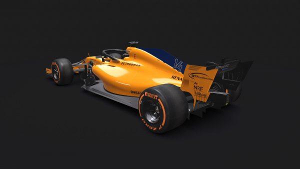مدل سه بعدی اتومبیل F1 McLaren MCL33