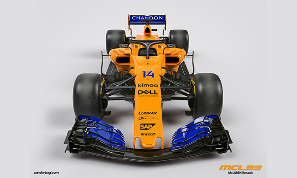 دانلود مدل سه بعدی اتومبیل F1 McLaren MCL33