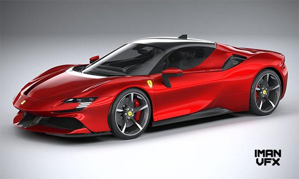 مدل 3D اتومبیل فراری Ferrari SF90 Stradale 2021