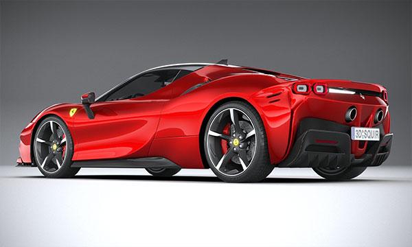 دانلود مدل 3D اتومبیل فراری